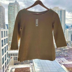 Banana Republic Gold Top XS NWT